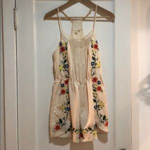 Anthropologie floral romper sz XS/S